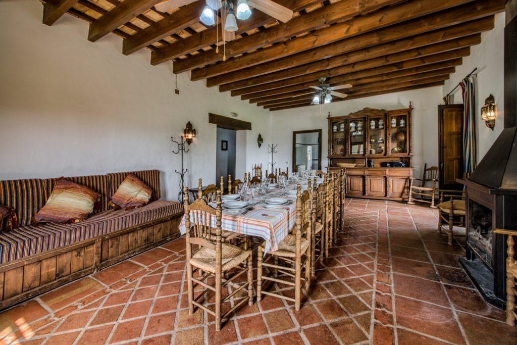 Salon y comedor. Casa rural en Cádiz. Arcos de la Frontera