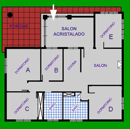 Plano casa rural en Arcos Huerta del Prado